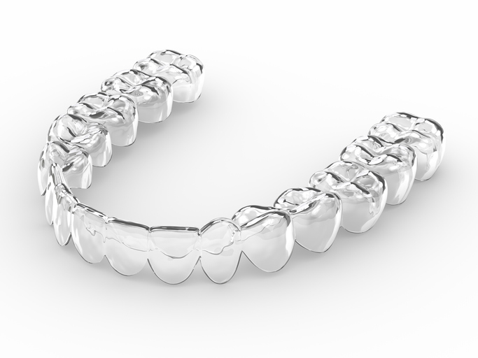 3d Render Of Invisalign Removable Retainer